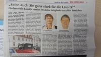 Im Wochenkurier Stark für die Lausitz 2016