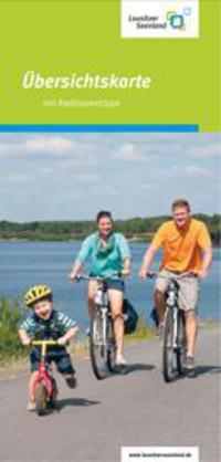 Lausitzer Seenland - Übersichtskarte mit Radtourentipps Lausitzer Seenland