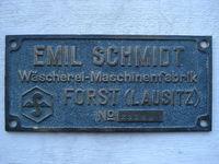 Maschinenschild für Forster Textilmuseum