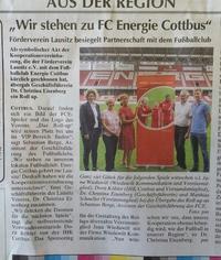 Förderverein Lausitz steht fest zu Energie Cottbus