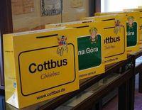 Cottbus-Tüte mit polnischer Rückseite erobert unsere Partnerstadt - Auch schon erste Einsendungen in Cottbus